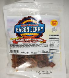 Jeff's Famous Jerky - Sriracha Style Black Pepper Bacon Jerky