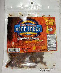 Jeff's Famous Jerky - Carolina Reaper Beef Jerky