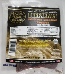 Ray's Own Brand - Hickory Smoked Pepper Beef Jerky