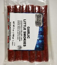 The Patriot Brands Jerky - Garlic Little Smokies Pork Beef Stick