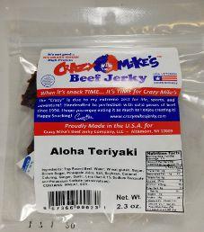 Crazy Mike's Beef Jerky - Aloha Teriyaki Beef Jerky