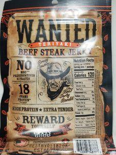 Crazy Cowboy Jerky - Teriyaki Beef Jerky