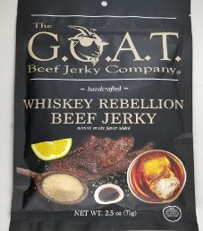 The G.O.A.T Beef Jerky Company - Whiskey Rebellion Beef Jerky