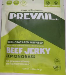 PREVAIL Jerky - Lemongrass 100% Grass-Fed Beef Jerky