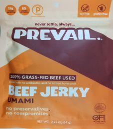 PREVAIL  Jerky - Umami 100% Grass-Fed Beef Jerky