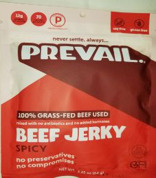 PREVAIL  Jerky - Spicy 100% Grass-Fed Beef Jerky