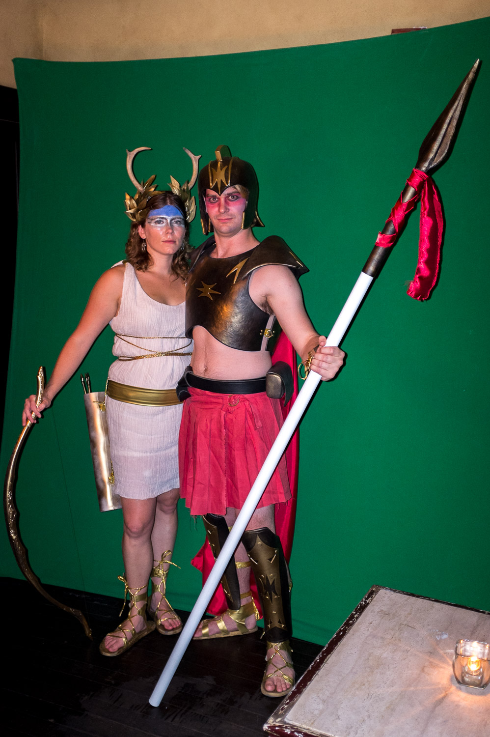 Ares and Aretmis on Halloween