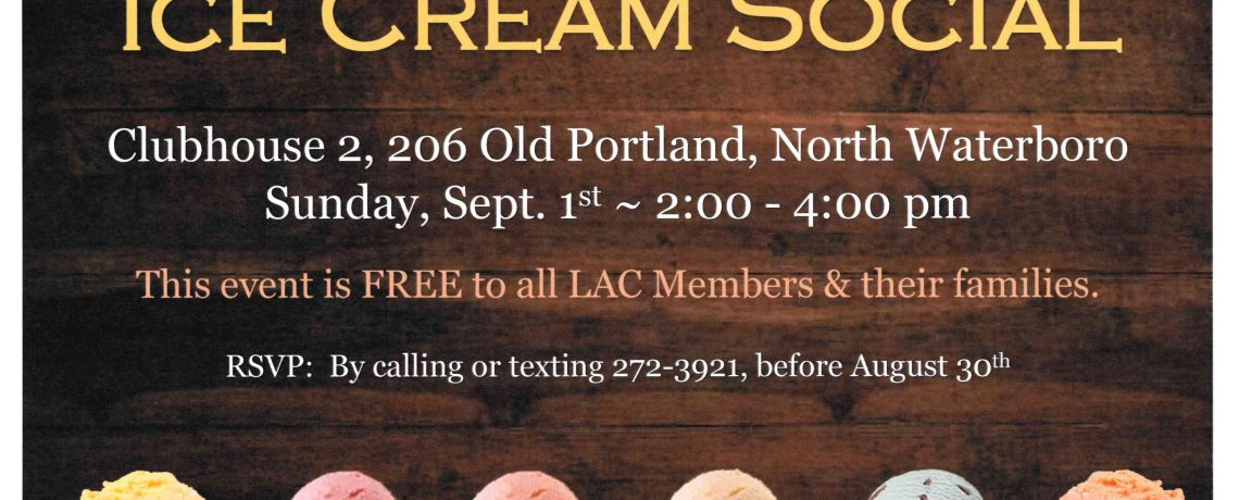 Annual Labor Day Weekend Ice Cream Social