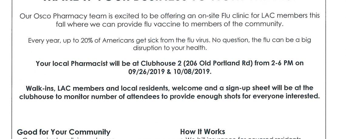 Upcoming Flu Clinics