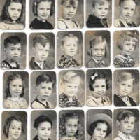 CoolvilleElem1stgradebottomrow1stgirl_Janice Kay Walden only name Seniors of 1950.jpg
