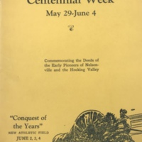 Nelsonville Centennial Week May 29-June 4, 1938