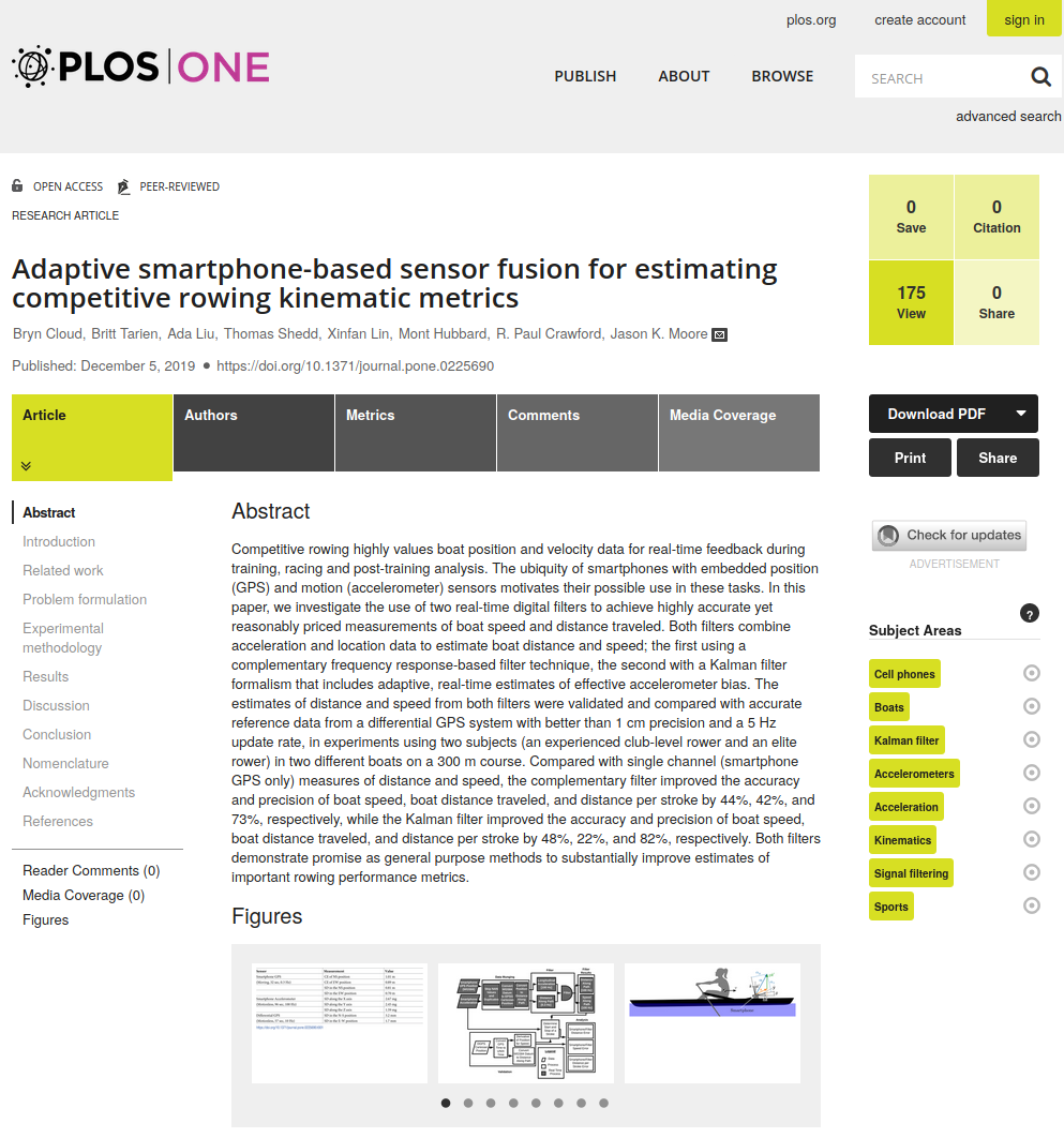 Screenshot of the Plos One paper.