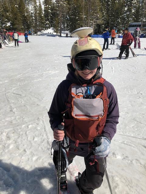 Differential GPS Skier Helmet.