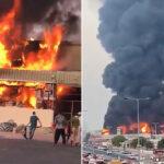 انفجار ضخم يندلع في سوق المواد الغذائية في عجمان ، الإمارات العربية المتحدة (فيديو)