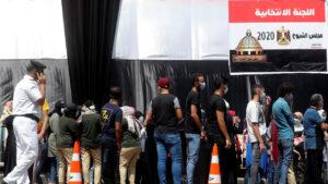 المصريون يدلون بأصواتهم في انتخابات مجلس الشيوخ لاختيار أعضائه