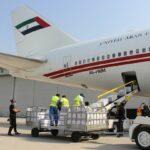 شاهد: الشيخ محمد يرسل 30 طناً من المساعدات الطبية إلى لبنان