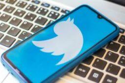 شعار تويتر يظهر على شاشة هاتف جوال