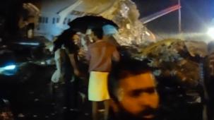 تحطّم طائرة ركّاب هندية لدى هبوطها في مطار