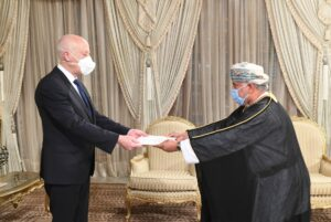 الرئيس التونسي يتسلم أوراق اعتماد سفير السلطنة