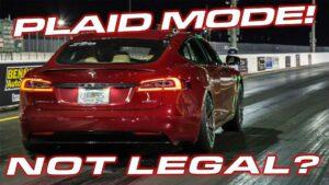 تم تقديم طلب Tesla Model S Plaid ، ولكن قد لا يُسمح به في المسارات
