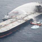 اخماد حريق جديد في ناقلة نفط قبالة ساحل سريلانكا