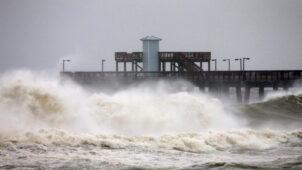 فيديو: إعصار سالي يصل إلى اليابسة في ألاباما