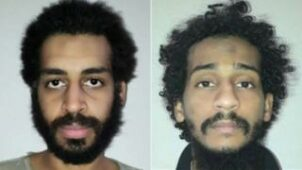 أليكساندا كوتي، يسار، والشفيع الشيخ، يمين، قبض عليهما في سوريا.
