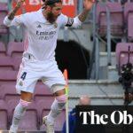 ركلة جزاء سيرجيو راموس تشكل فوز ريال مدريد في الكلاسيكو على برشلونة