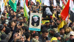 بغداد: إحراق مكاتب الحزب الكردي من قبل أنصار الحشد الشعبي