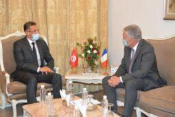 وزير الدّاخليّة يستقبل سفير فرنسا بتونس