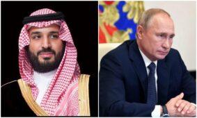 ولي العهد السعودي يبحث اتفاقات أوبك + مع فلاديمير بوتين