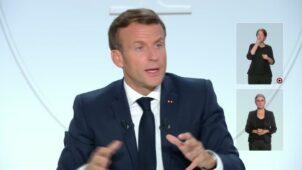 الرئيس إيمانويل ماكرون يعلن فرض حظر التجول ليلا في عدد من المدن الفرنسية الكبرى