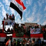 بالصور: الآلاف يتظاهرون في بغداد في ذكرى الاحتجاج