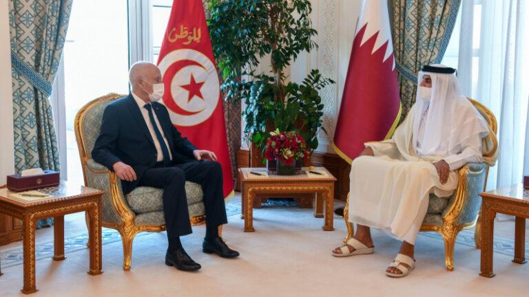 سعيد يؤكد للشيخ تميم على ضرورة إقامة خط بحري بين تونس وقطر