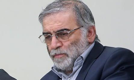 العالم الإيراني البارز محسن فخري زاده الذي اغتيل يوم الجمعة.