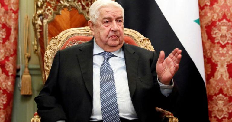 وفاة وزير الخارجية السوري المخضرم وليد المعلم
