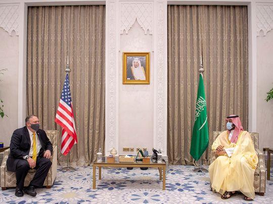 السعودية: محمد بن سلمان يجري محادثات مع بومبيو