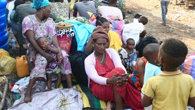 اللاجئون من إقليم تيغراي في مخيمات مكتظة في السودان