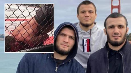 نتيجة جميلة: إسلام ماميدوف الروسي يقضم شوكولا بعد إنهاء معركة MMA الدموية مع استسلام الركبة (فيديو)