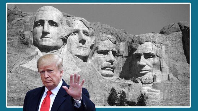 دونالد ترامب أمام جبل راشمور