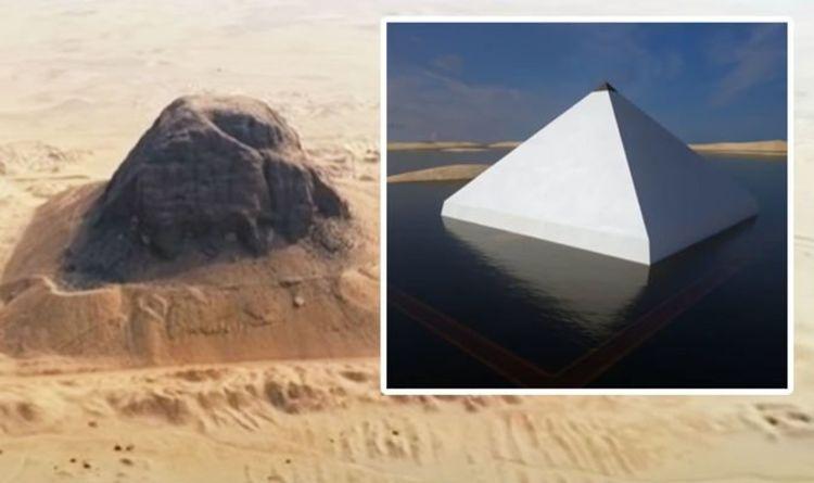 الكشف عن هرم مصر `` العائم '' بعد `` فك شفرة سر الفرعون البالغ 4000 عام ''