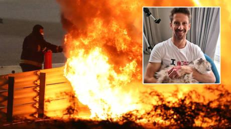 يداي عادت: فورمولا 1 آيس جروجان يواصل التعافي من حريق أوشك على الموت - لكنه يحذر المشجعين شديد الحساسية من الصورة الدموية