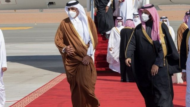 أمير قطر وولي العهد السعودي