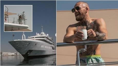 كونور مكجريجور يطرح نفسه على يخت سوبر يرسو في UFC Fight Island بقيمة 780 ألف دولار في الأسبوع - كما يمزح المدرب `` لا توجد قوارب أكبر ''