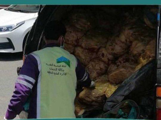 السعودية: ضبط 1000 كيلوجرام من اللحم الفاسد في مكة قبل العيد