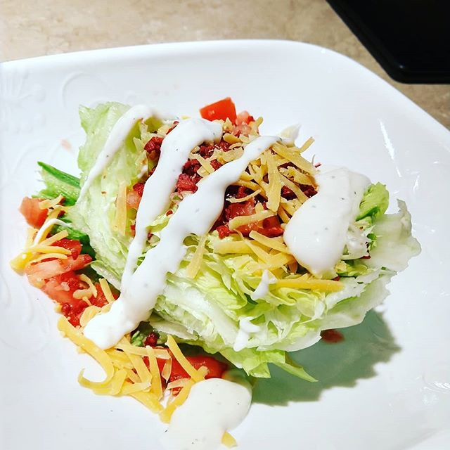 A little wedge salad with only #1gfat #fcscooking #fcs #post