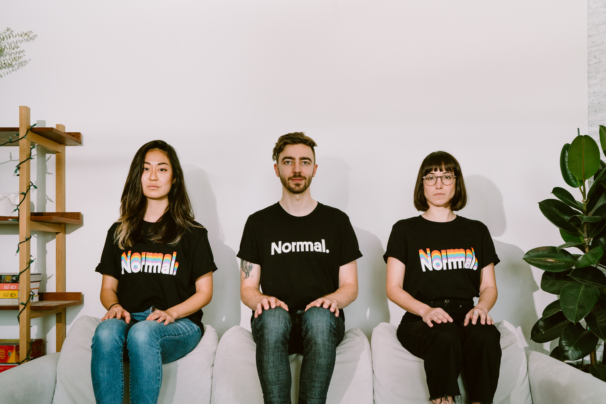 3 Normals on a couch
