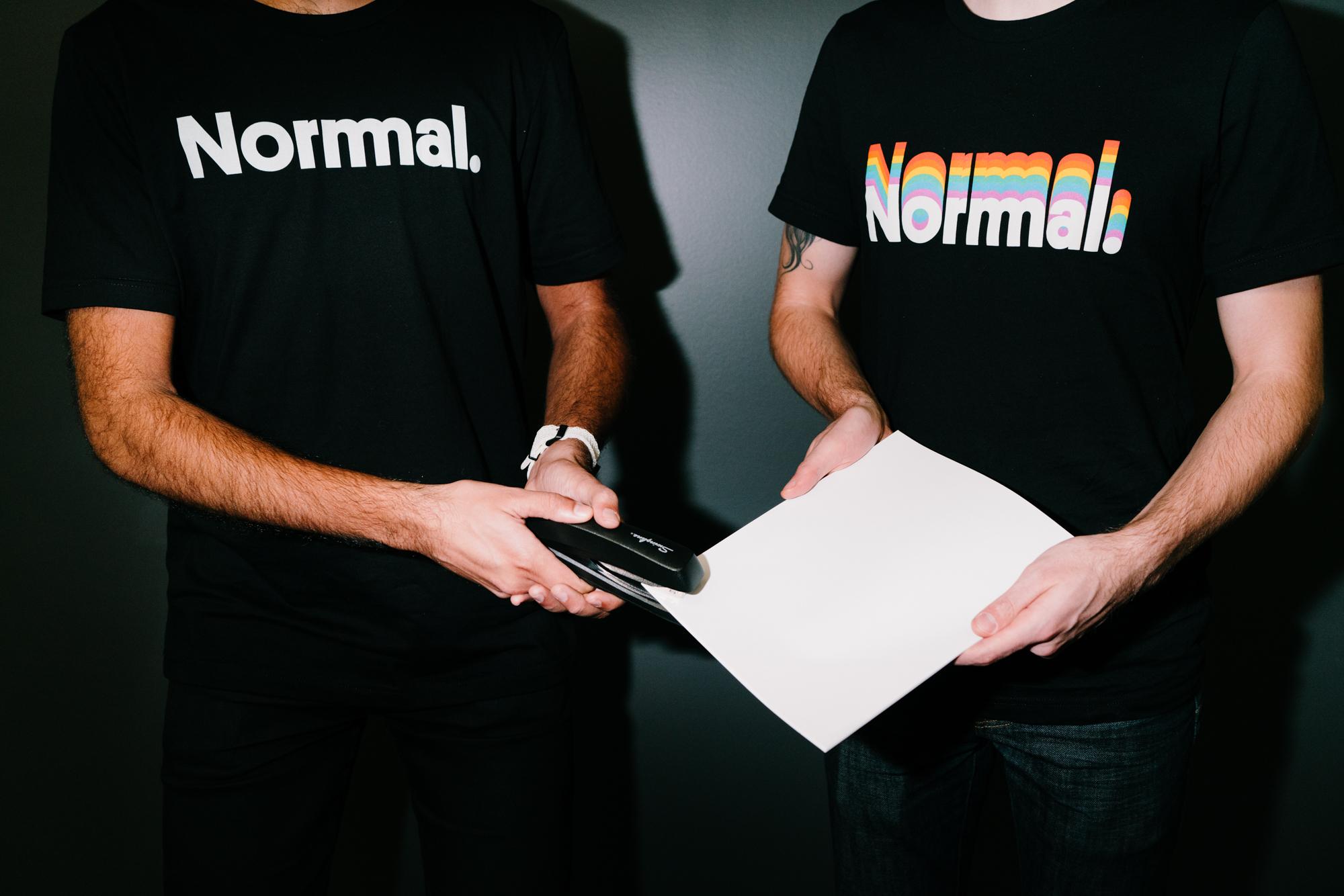 2 Normals stapling paper