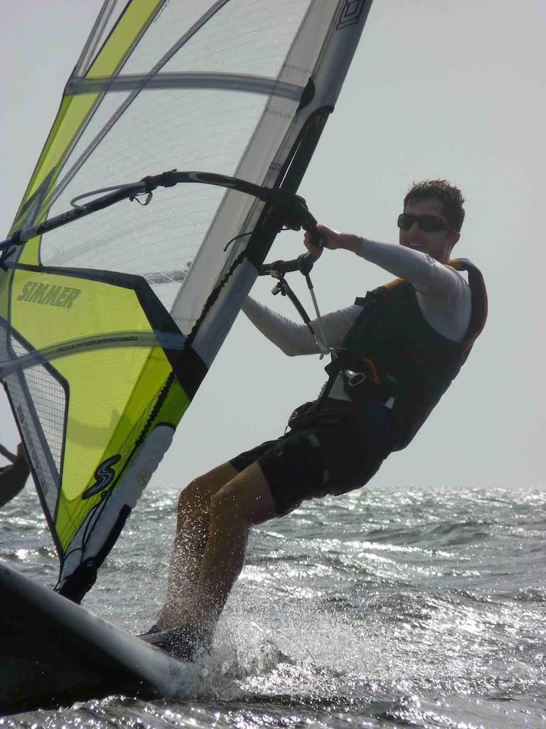 Todd windsurfing
